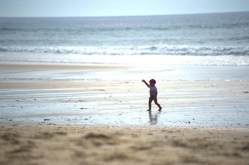 Kleiner Strandmensch